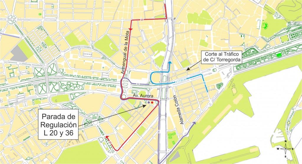 Plano Aviso Metro Almda Colon Torregorda