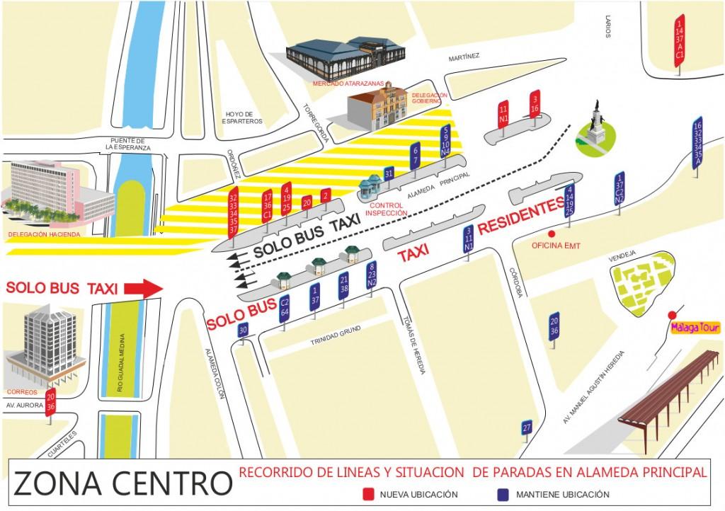 Plano de paradas Alameda noviembre 15